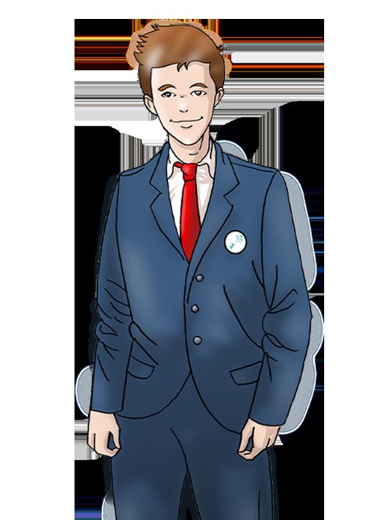Bertrand, personnage principal A la rencontre de nouveaux monde